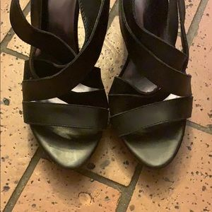 Chinese Laundry black strappy pumps